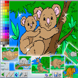 Coloriage Interactif.Colorier Gratuitement Les Coloriages De Clown