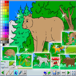 coloriage animaux foret