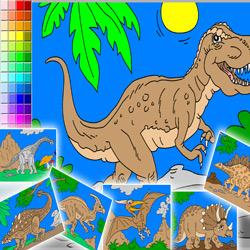 nouveau coloriage en ligne dinosaures - Coloriag En Ligne