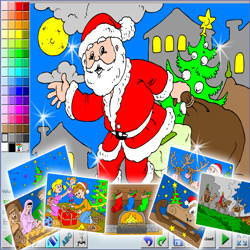 coloriages special noel 2014